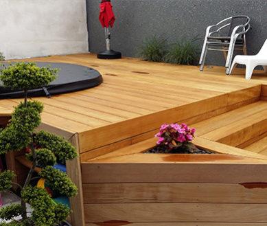 Illustration Création de piscine en bois